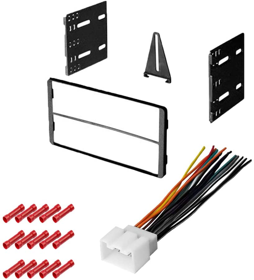 CACHÉ KIT1006 Bundle with Car Stereo Installation Kit for 1995 – 2001 Ford Explorer – in Dash Mounting Kit, Harness for Double Din Radio Receivers (3 Item)