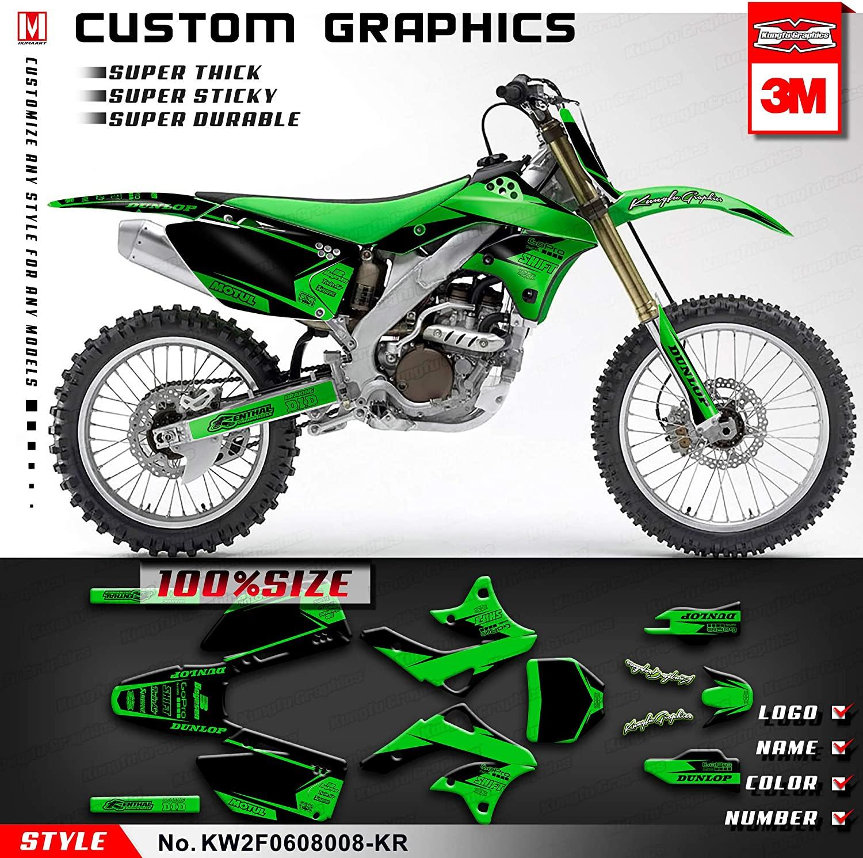 Kungfu Graphics Custom Decal Kit for 2007 2008 Kawasaki KXF250 KX250F KX 250F, KW2F0608008-KR