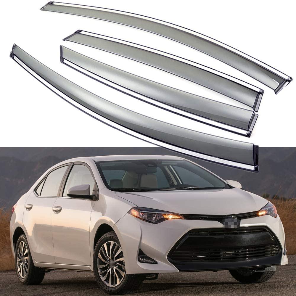 SPEEDLONG Car Window Visor Vent Shade Deflector Sun/Rain/Fog Guards Compatible with Toyota Corolla Sedan 2014-2019 15 16 17 18