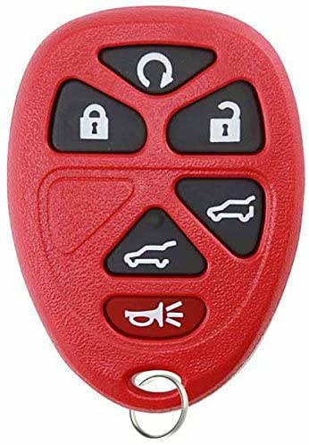 KeylessOption Keyless Entry Remote Control Car Key Fob Replacement for 15913427 -Red