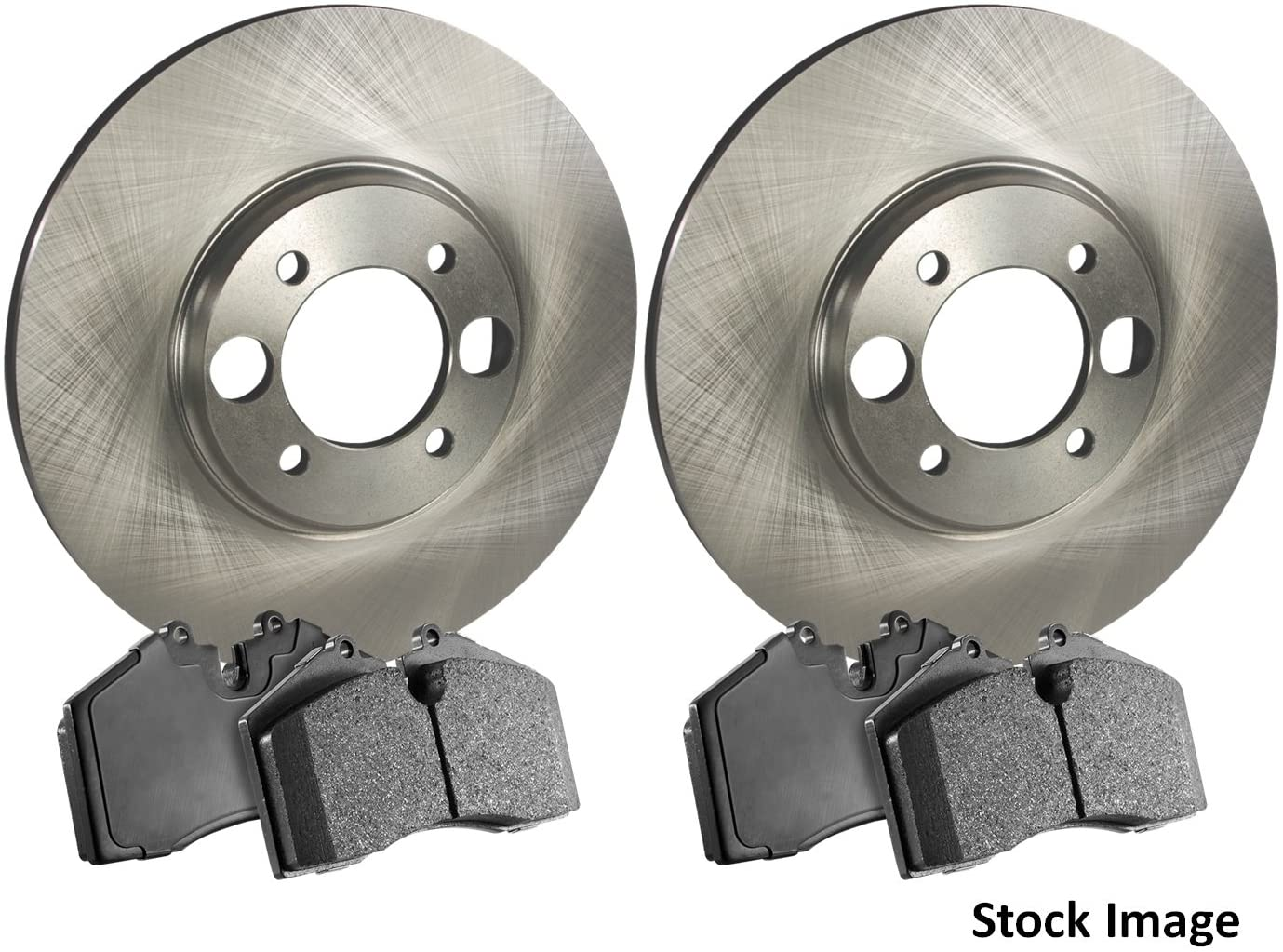 Stirling - 2017 For Lexus IS350 Front Left Disc Brake Rotors and Ceramic Brake Pads RWD (Note: Front Left; RWD)
