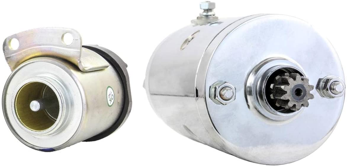 Rareelectrical CHROME STARTER AND SOLENOID COMPATIBLE WITH HARLEY SPORTSTER 1000 ELECTRIC START ANNI XLH1000 78 15-452 15452