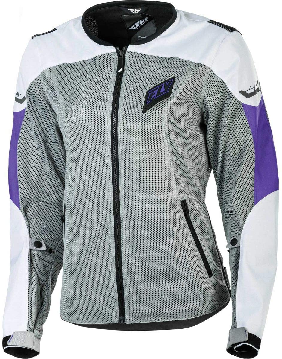 Fly Racing Street Women's Flux Air Jacket (Medium) (White/Purple)