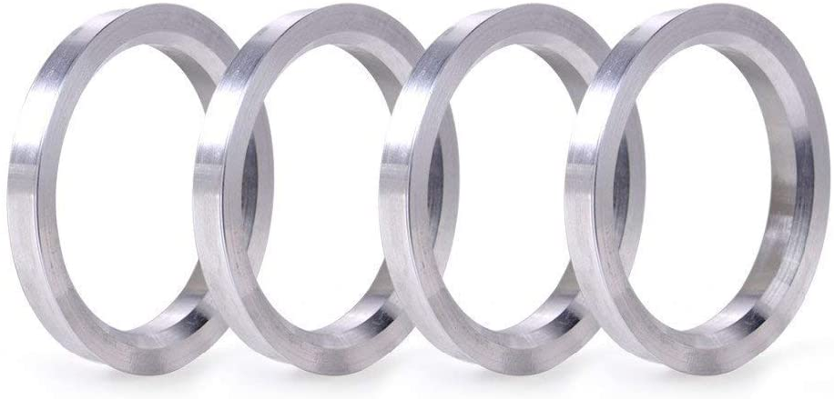 ZHTEAPR 4pcs Wheel Hub Centric Rings 57.1 to 74.1 OD = 74.1mm ID = 57.1mm - Aluminium Alloy Wheel Hubrings 74.1 to 57.1