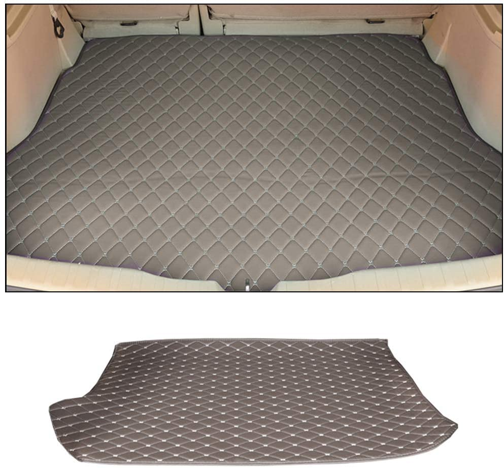 Custom Car Trunk Mats Leather Cargo Liner for BMW 3 Series GT F34 320i 328i 335i 2013-2019 GranTurismo All Weather Waterproof Durable Gray