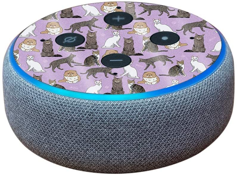 MightySkins Glossy Glitter Skin for DHgate Echo Dot (3rd Gen) - Cat Chaos | Protective, Durable High-Gloss Glitter Finish | Easy to Apply, Remove, and Change Styles | Made in The USA
