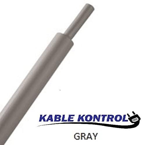 1/16 Kable Kontrol Heat Shrink Tubing (100Ft Long, 2:1 Shrink Ratio) (1/16 Diameter, Gray)