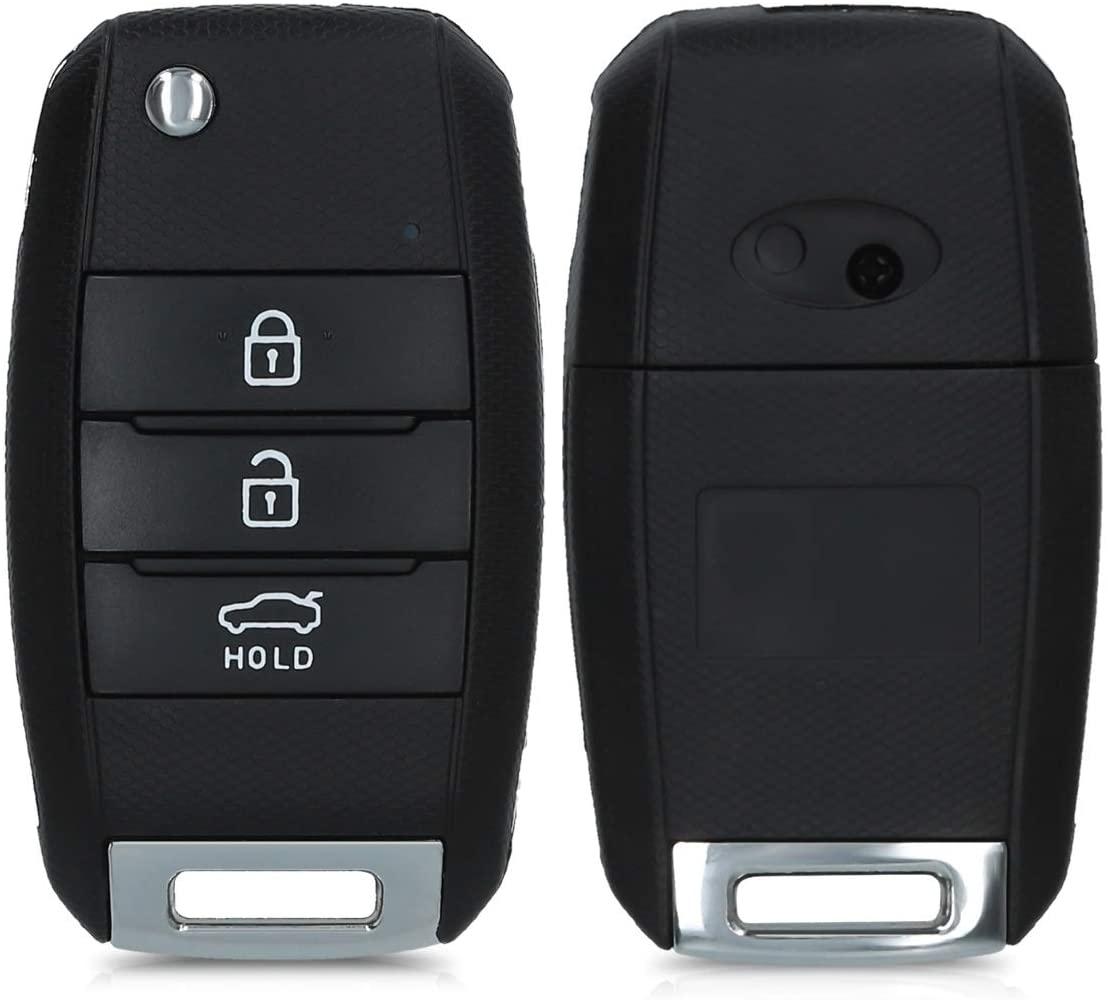 kwmobile Key Case Compatible with Kia - Black