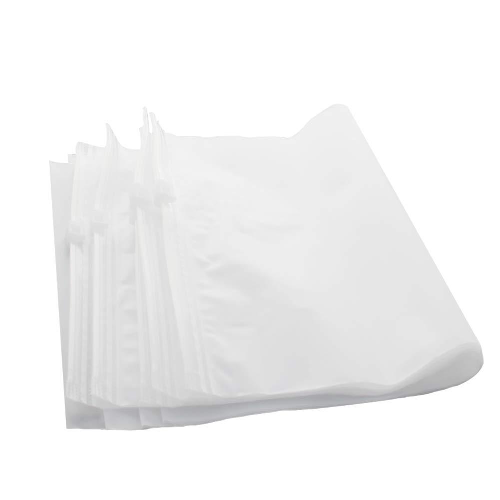 Othmro CPE Zipper Bag 17 x25cm Frosting Resealable Seal per 50pcs