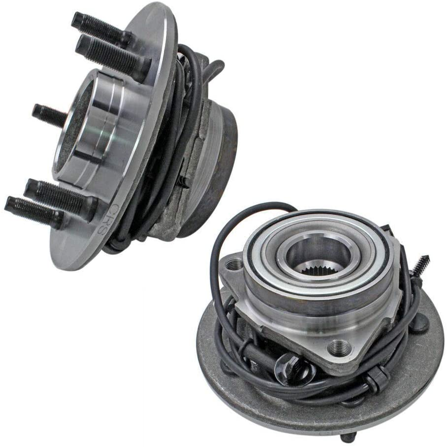 Bodeman - Pair 2 Front Wheel Hub and Bearing Assembly for 2000-2001 Dodge RAM 1500 4x4, 4WD