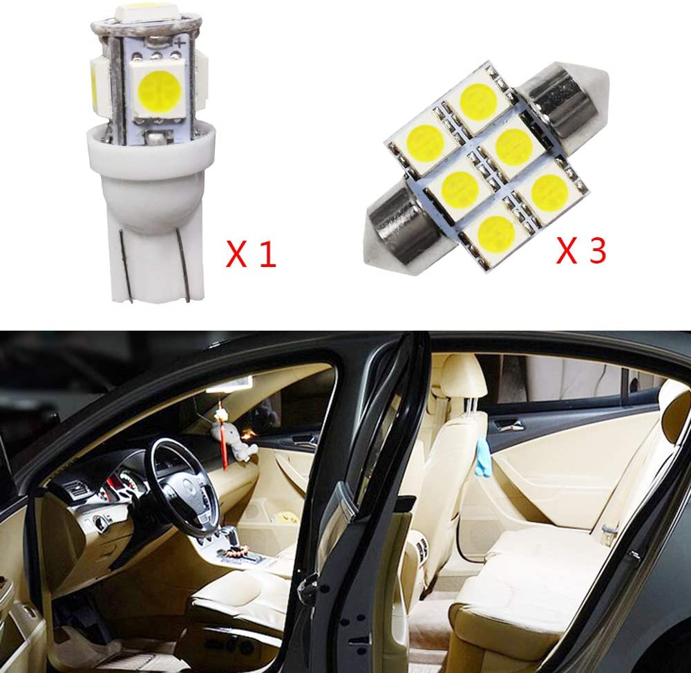 for Mitsubishi ASX Super Bright LED Interior Lights Source Car Lamp Replacement Bulbs White Pack of 4