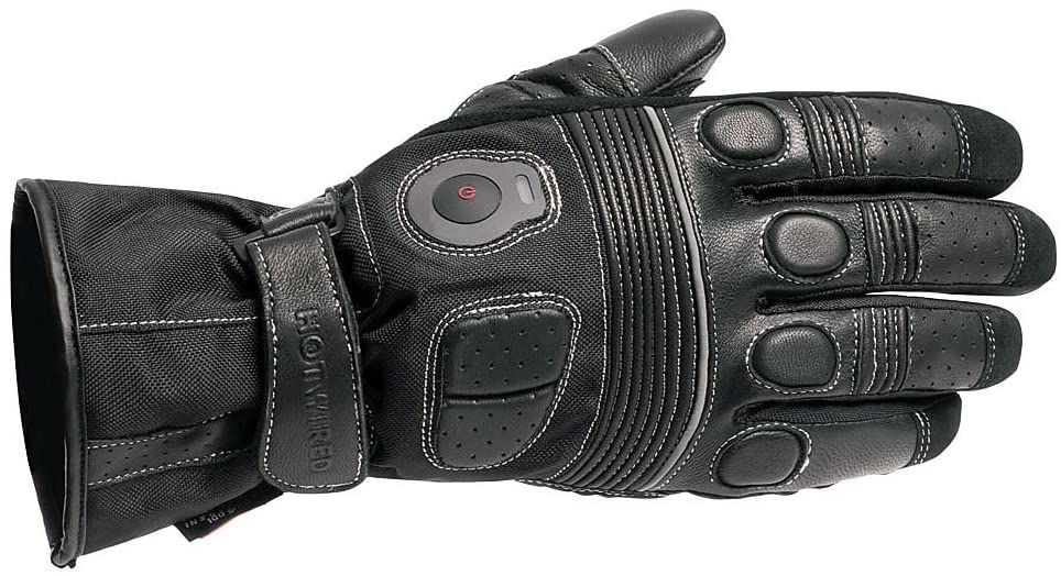 SEDICI HOTWIRED Heated Leather Gloves With Controller - MD, Black