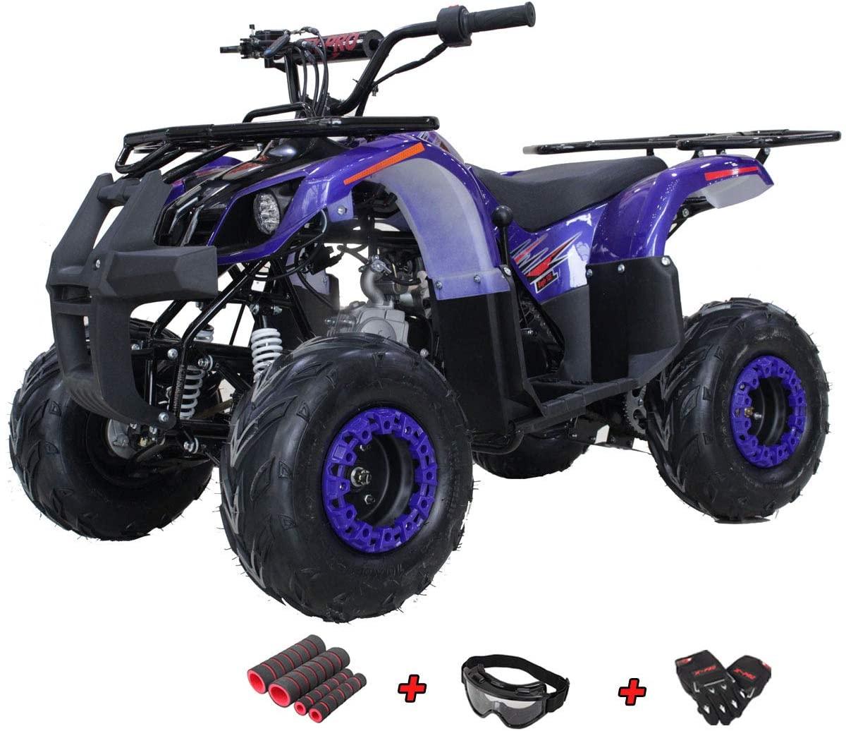 X-PRO Eagle 125 ATV Quad Youth 4 Wheeler ATVs Kid Size ATV 4 Wheelers 125cc Big Boys ATVs Quads with Gloves, Goggle and Handgrip (Blue)