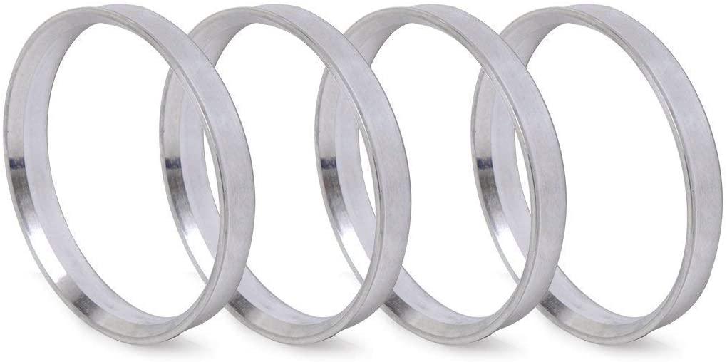 ZHTEAPR 4pc Wheel Hub Centric Rings 108 to 106 - OD=108mm ID=106mm - Aluminium Alloy Wheel Hubrings 106 to 108