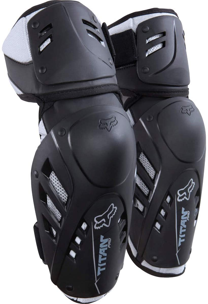 Fox Racing Titan Pro Adult Elbow Guard MotoX Motorcycle Body Armor - Black / Large/X-Large