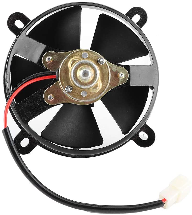 Qiilu Radiator Cooling Fan, 6in Radiator Thermo Electric Cooling Fan Accessory Fit for 150c 200cc Dirt Bike ATV