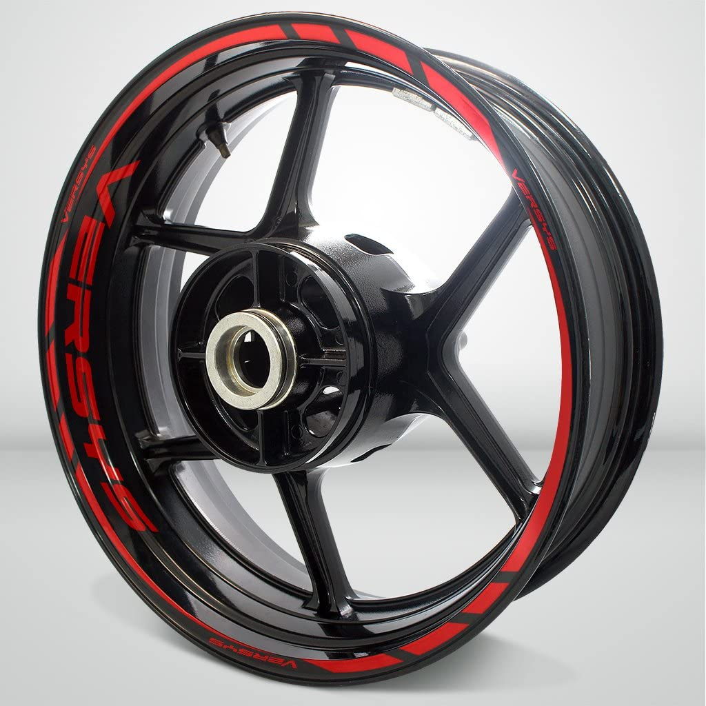 Gloss Red Motorcycle Rim Wheel Decal Accessory Sticker For Kawasaki Versys