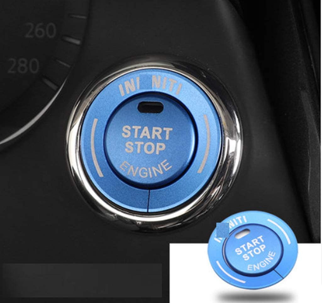 Eppar New Protective Start Button Covers Compatible with Infiniti Q50 2013-2020 (Blue)