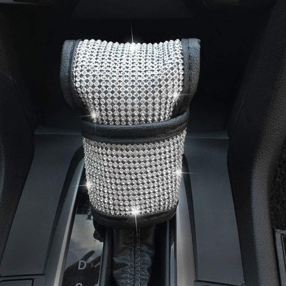 Bling Bling Car Shift Gear Cover,Bling Car Accessories,Universal Size Fit for All Kinds of Car
