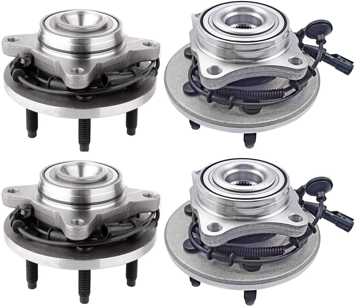 Bodeman - (4) Front and Rear Driver Passenger Side Wheel Hub and Bearing Assembly for 2003 2004 2005 2006 Ford Expedition and Lincoln Navigator 2WD