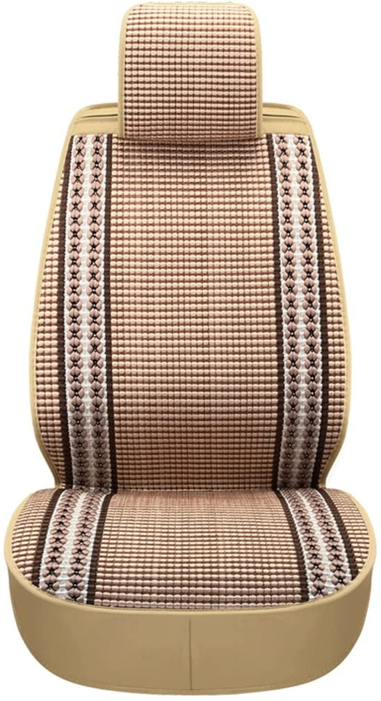 Makang Seat Cover Five Seats Universal Ice Silk Car Seat Car Seat Cover Four Seasons Universal (Color : Beige, Size : Deluxe Edition)