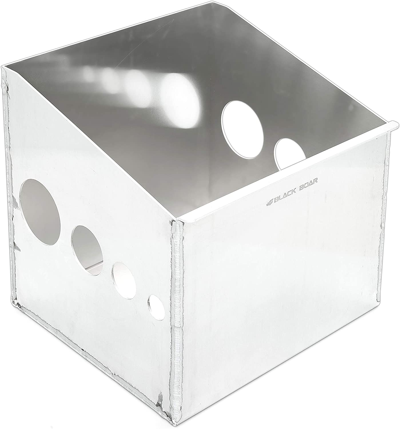 Black Boar Aluminum Single Storage Container for Enclosed Trailer | Securely Holds (1) Fuel jug While in Transit | Durable Construction | Easy to Install (66113)