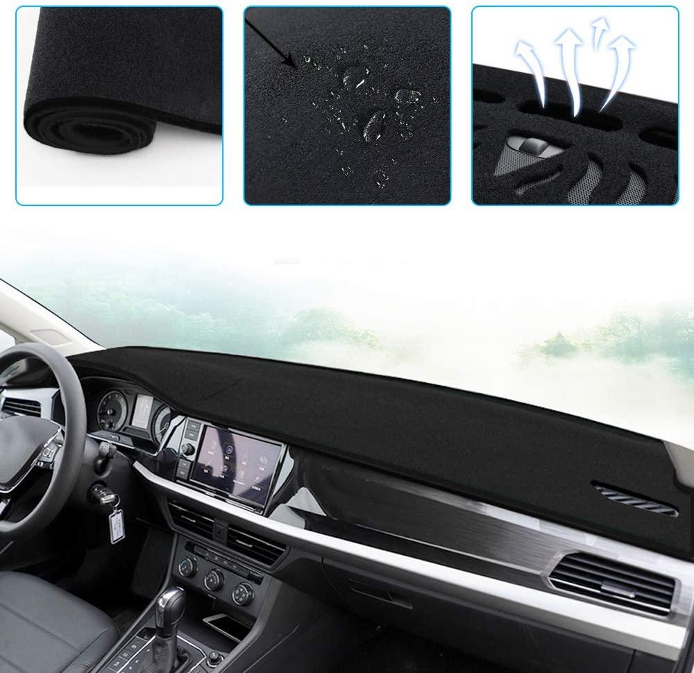 ALLYARD Custom Dash Board Cover Mat for Hyundai Sonata 2011-2014 Dashboard Dash Protector Easy Installation Black