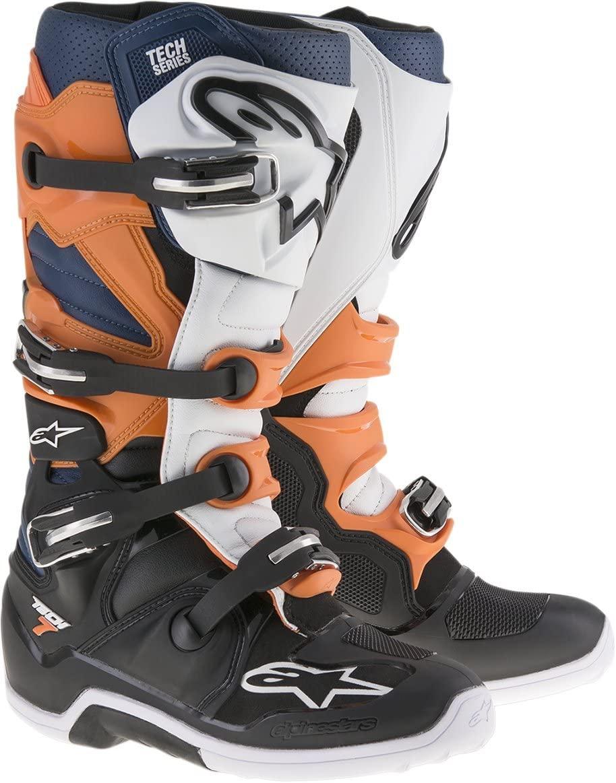 Alpinestars Mens Tech 7 Boot (Black/Orange/White, 5)