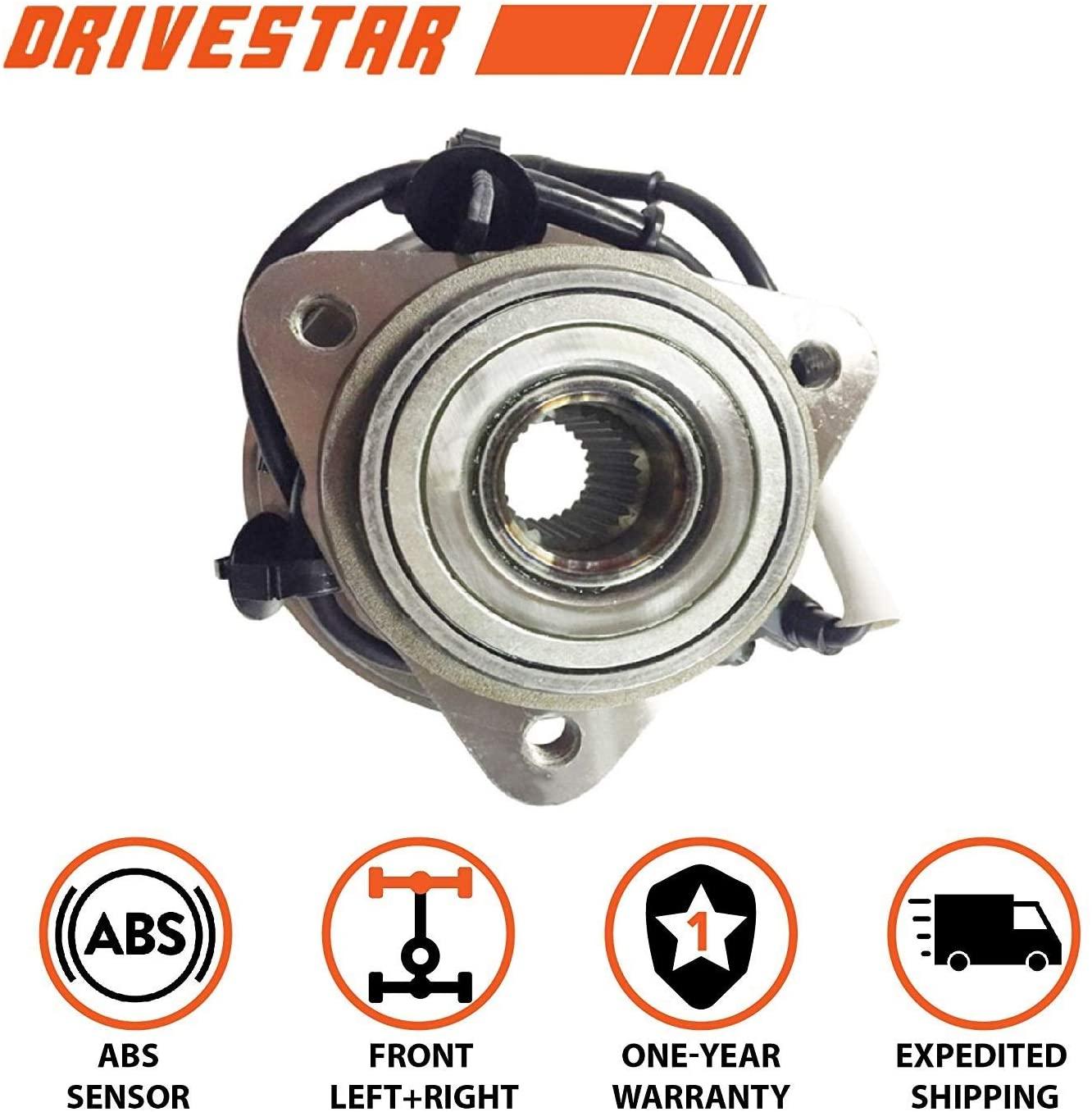 DRIVESTAR 515003 Front Wheel Hub & Bearing Assembly for Selected Ford Explorer/Ranger, Mazda B4000/B3000, Mercury Mountaineer 4WD, 5 Lug w/ABS 3 Flange Bolt