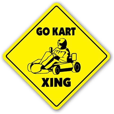 1080 Graphics GO Kart Crossing Sign Decal Sticker Racing Racer Karts Parts Helmet Karting cart carts Sport