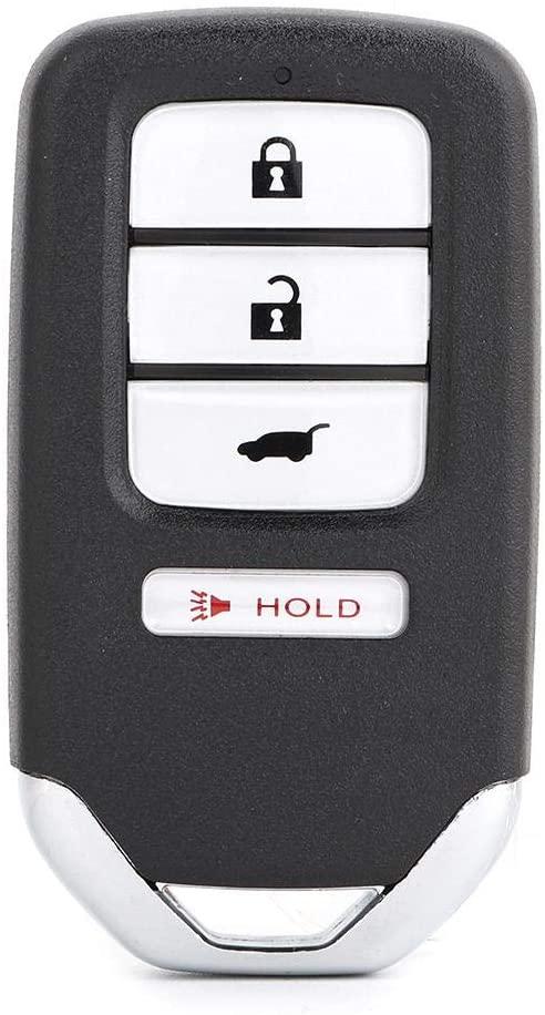 Gorgeri Remote Control Car Key, Smart Remote Control Car Key Fob 4 Buttons 313.8Mhz KR5V1X for HR-V/Fit EX-L 2016-2018