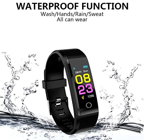 Smart Watches for Cellphones, Fitness, Activity Tracker Watch with Heart Rate Monitor, Waterproof Smart Bracelet with Step Counter, Calorie Counter, Pedometer Watch for Women and Men, Kids