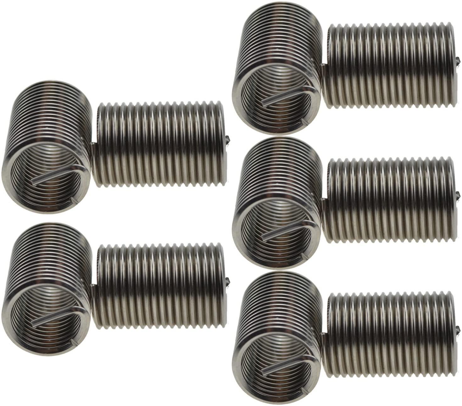 XunLiu 304 Stainless Steel Wire Thread Insert HeliCoil Stripped Thread Rethread Repair(10, M16-2.0X2.5D)