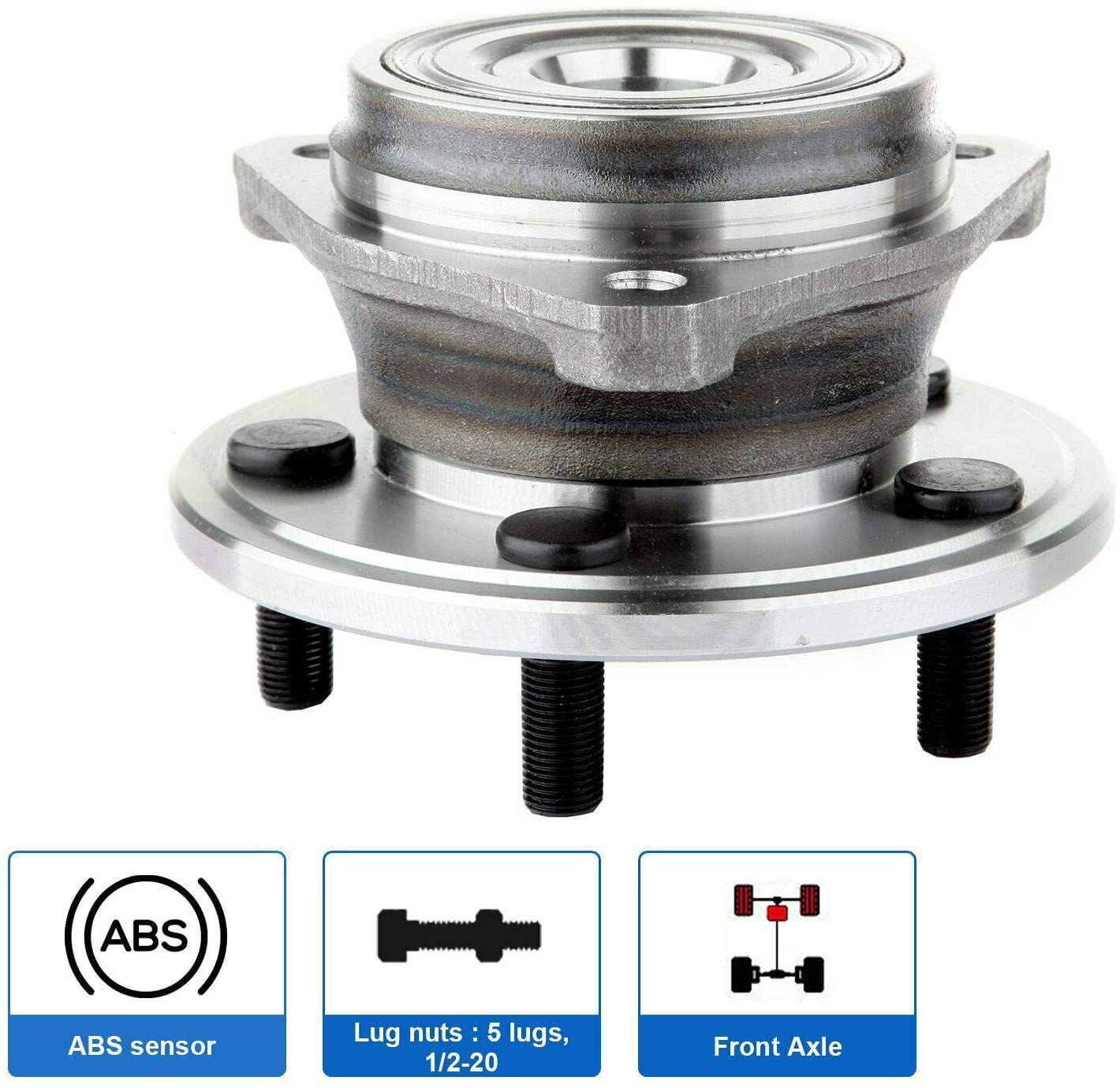 SCXCOPIDO Front Wheel Hub Bearing Assembly for Jeep Grand Cherokee Comanche TJ Wrangler