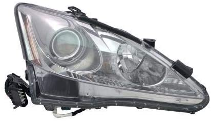 Go-Parts - for 2011 - 2013 Lexus IS350 Front Headlight Assembly Housing / Lens / Cover - Right (Passenger) Side 81130-53550 LX2519131 Replacement 2012