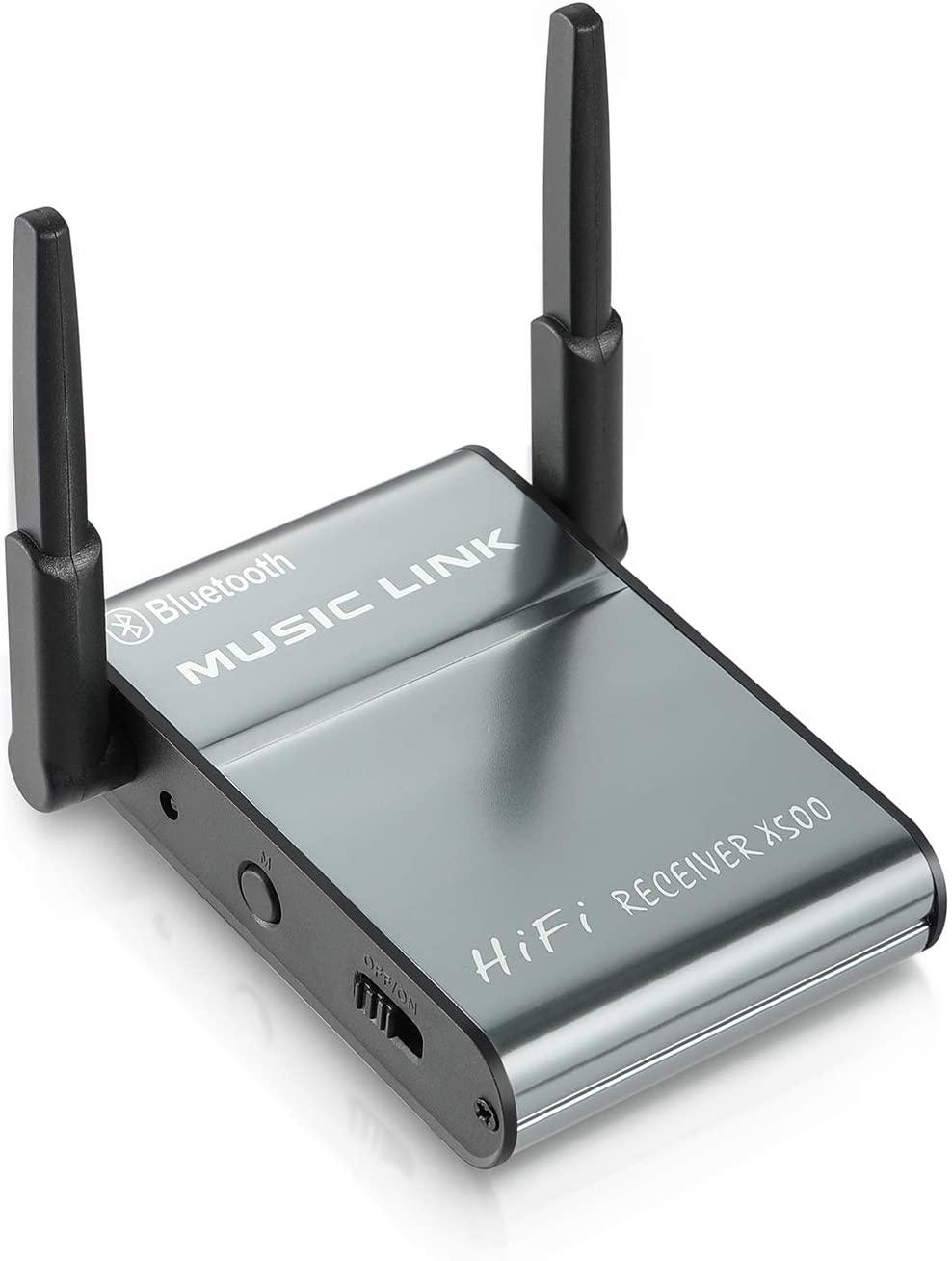 [2020 New] Carrep Bluetooth Receiver HiFi Wireless Audio Adapter, Bluetooth 5.0 3D Surround Amplifier Antenna, aptX Low Latency