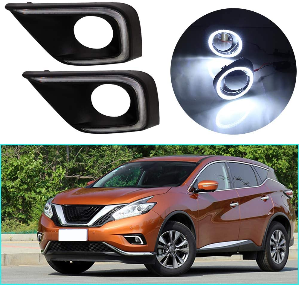 LED DRL Light Dual color for Nissan Murano 2015-2018 Fog Lamp Decorative Automotive Lights Exterior Accessories Model B 1 pair