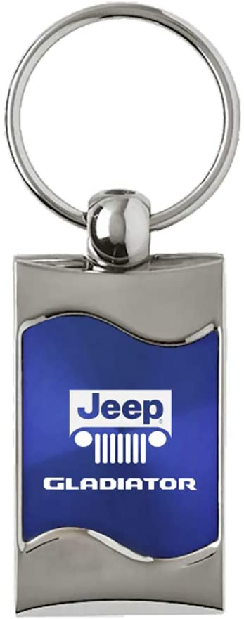 Au-TOMOTIVE GOLD, Inc. Rectangular Wave Key Fob for Jeep Gladiator (Blue)