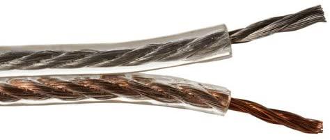 Cmple 50-Feet 14 Gauge Speaker Wire (Clear)