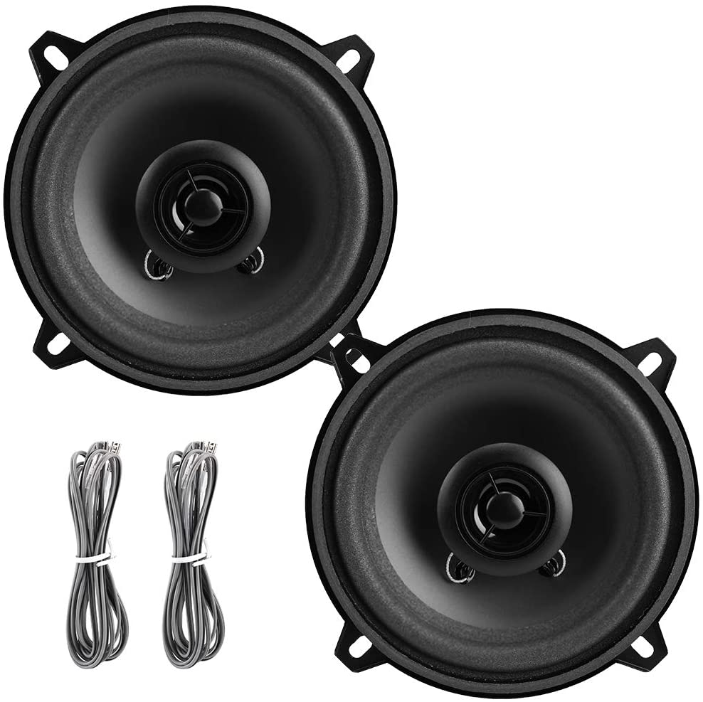 Coaxial Speakers, 2pcs 5 Inch Car Audio Coaxial Speakers Music Stereo Loudspeakers Horn