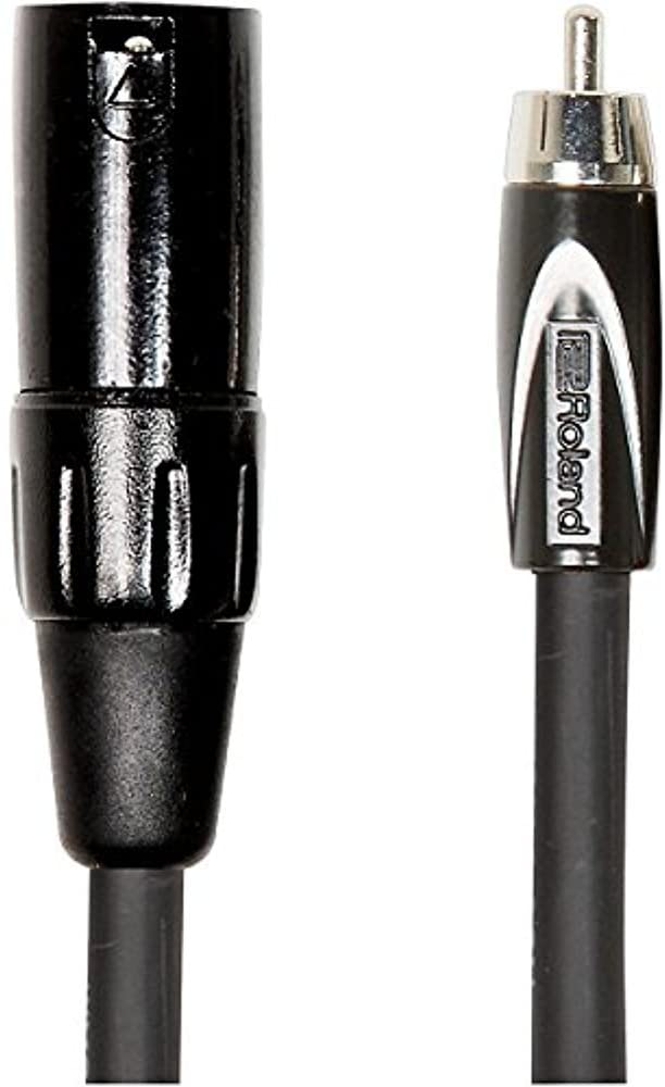 Roland Black Series Interconnect Cable, XLR (Male) to RCA, 10-Feet