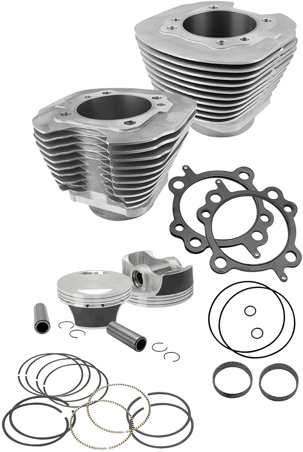 S&S 106 in. Big Bore Black Kit for Harley Davidson 2006-13 FXD, 2007-13 Big Twin models - One Size