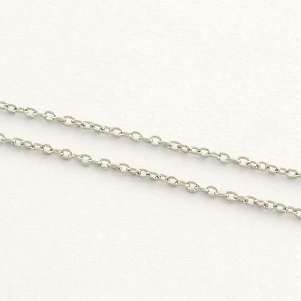 UR URLIFEHALL 25m 304 Stainless Steel Cable Chains Soldered for Jewelry Making 3x2.2x0.6mm