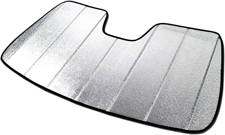 Tuningpros SS-149 Custom Fit Car Windshield Sun Shade Protector, Sunshade Visor Silver & Grey 1-pc Set Compatible With 2011-2016 Hyundai Elantra 4 Door Sedan