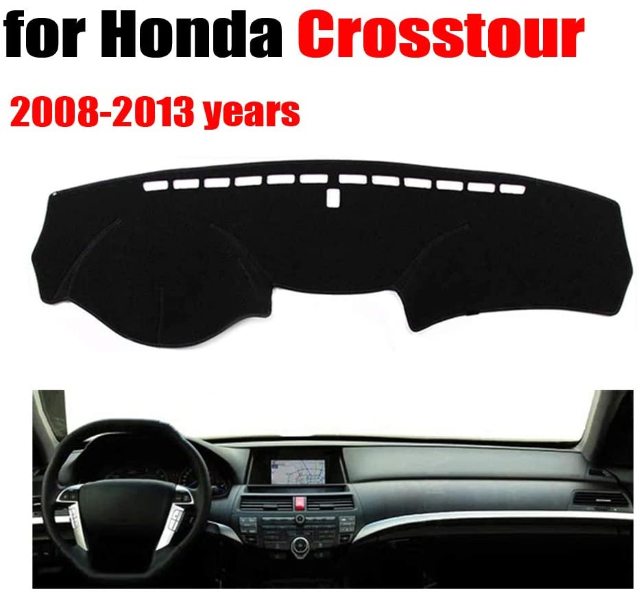 Qnice Car Dashboard Cover for Honda Crosstour 2008-2013 Left Hand Drive Dash Mat Covers Auto Dashboard Protector Accessories