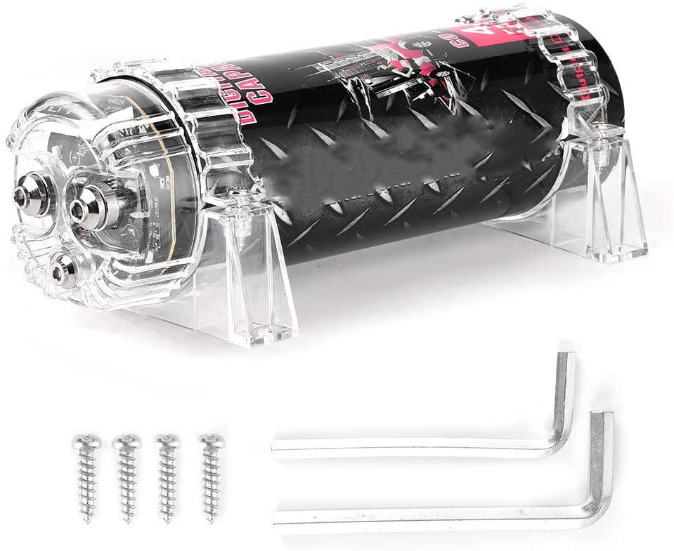 Gorgeri Digital Car Capacitor 4 Farad Power Capacitor LED Voltage Display Power Cap Car Audio Amplifier
