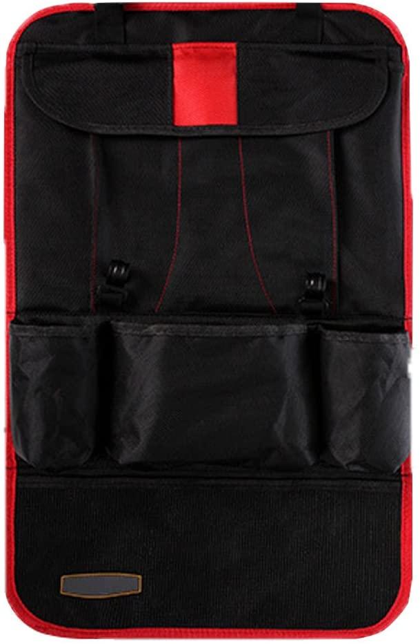 HCMAX 2 Pack Car Seat Back Organizer Pocket Backseat Protector Storage Bag Tablet Holder Kick Mat ipad Holder Multi-Pocket Great Travel Accessory Red