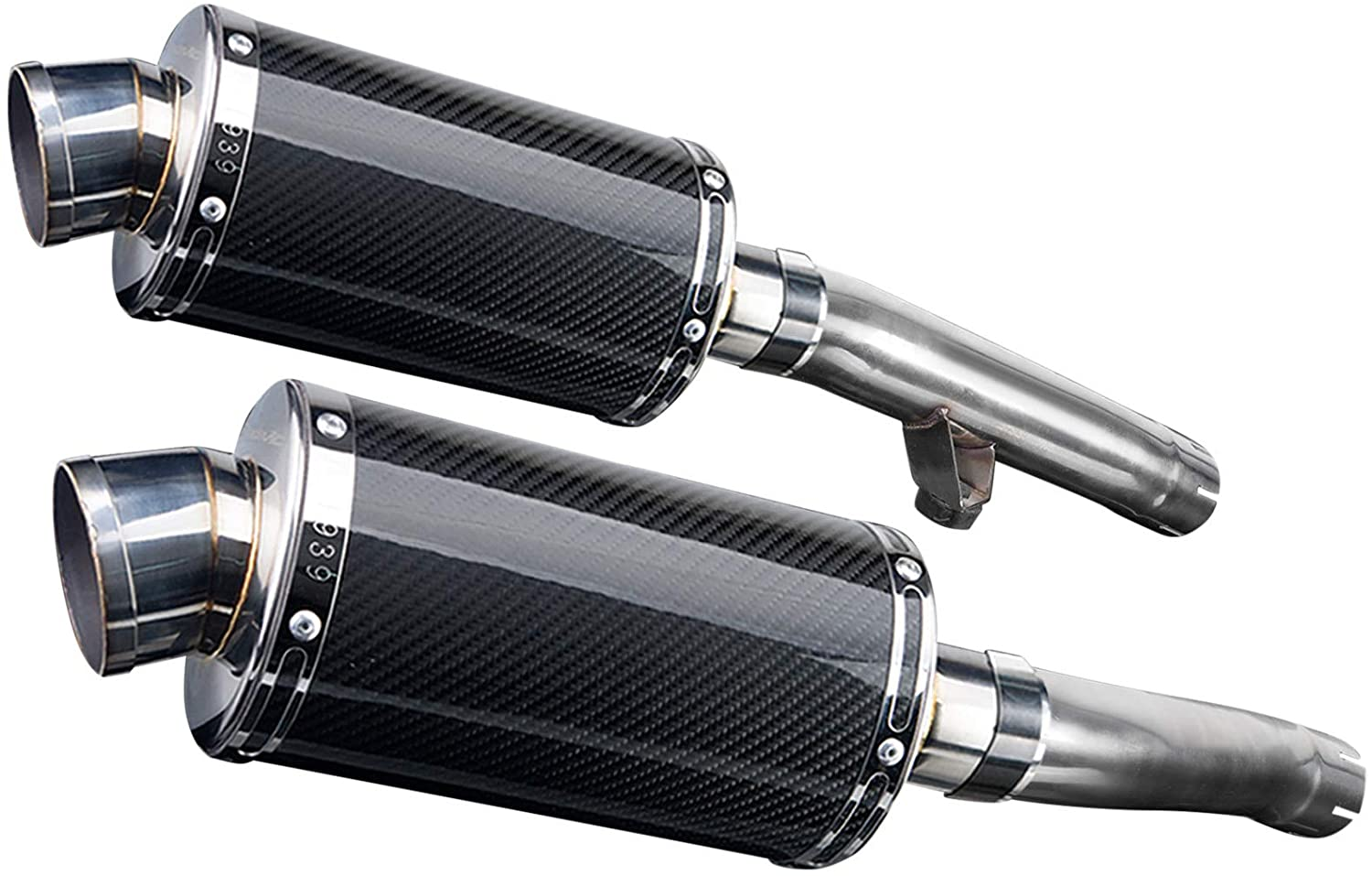 Delkevic Aftermarket Slip On compatible with Yamaha FJ1200 3CV DS70 9