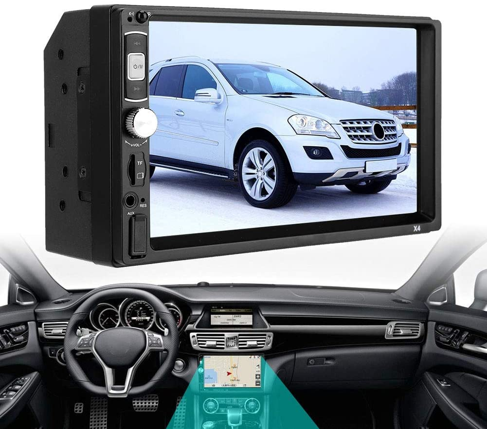 Yencoly Radio Player, Player, USB 2.0 with TF Card Slot, MP5 Audio Player, for Car,