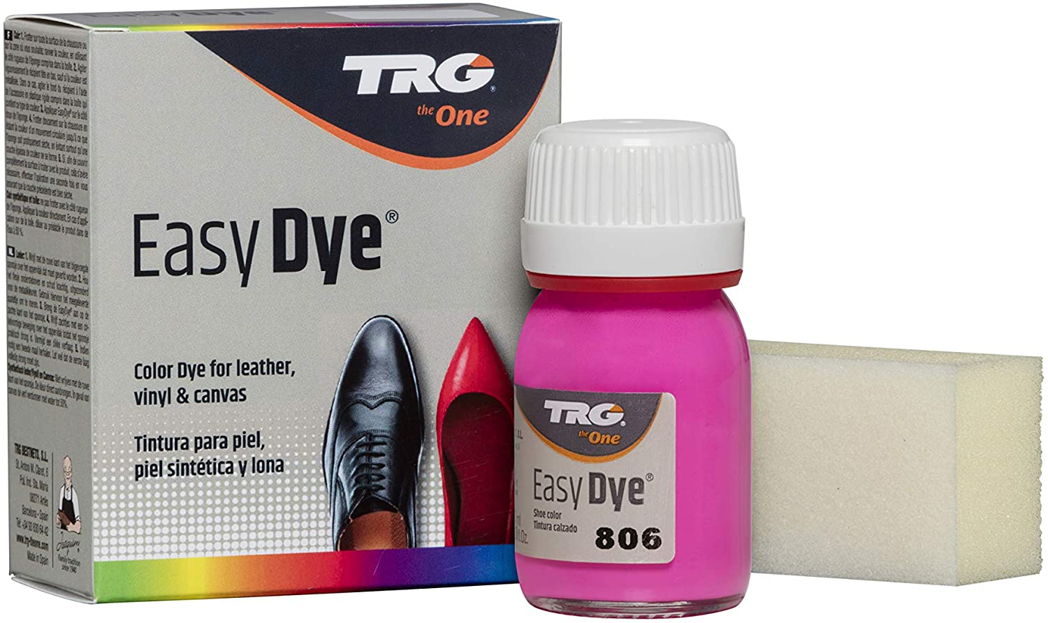 TRG Easy Dye for Leather and Canvas, Neon Colors